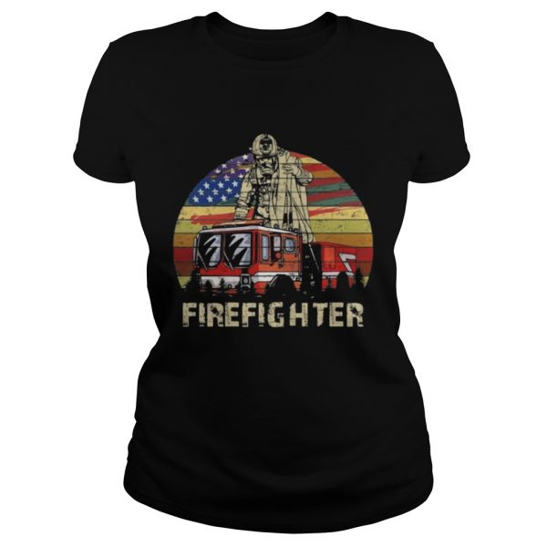 Firefighter Vintage Shirt Classic Ladies Tee