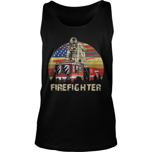 Firefighter Vintage Shirt TankTop