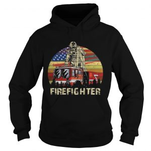 Firefighter Vintage Shirt Ladies V-Neck