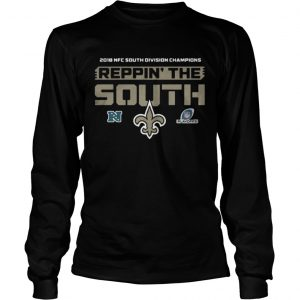 2018 NFC south division champions Reppin the south New Orleans Saints shirt Longsleeve Tee Unisex