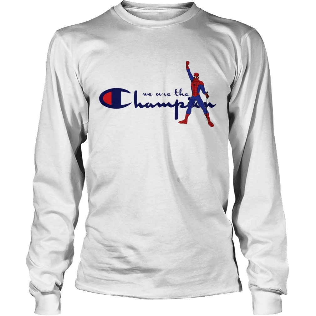 e555b31d ... Freddie Mercury Spider man we are the Champion shirt Longsleeve Tee  Unisex