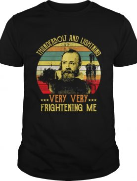 Vintage Galileo Science Astronomy thunderbolt and lightning very very frightening me shirt