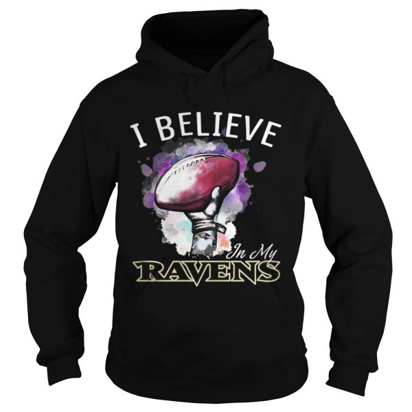 I believe in my Baltimore Ravens shirt Ladies V-Neck