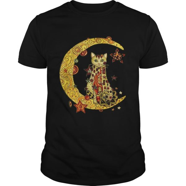 Cat on the moon Cat humor animalday Guy shirt