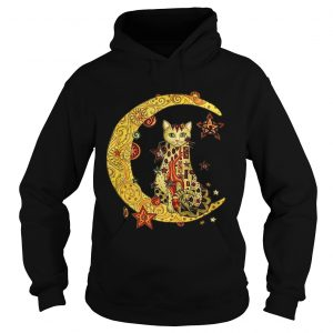 Cat on the moon Cat humor animalday Hoodie shirt