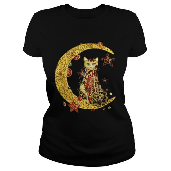 Cat on the moon Cat humor animalday Ladies shirt