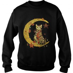 Cat on the moon Cat humor animalday Sweat shirt