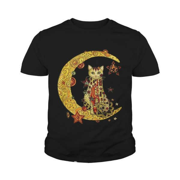 Cat on the moon Cat humor animalday Youth shirt