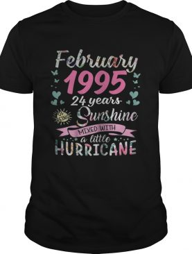 February 1995 24 years sunshine mixed with a little hurricane shirt
