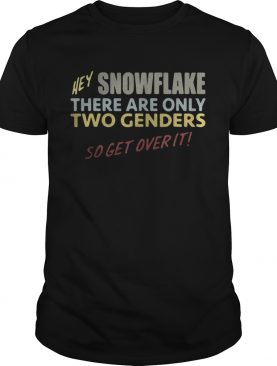 Hey snowflake there are only two genders so get over it shirt