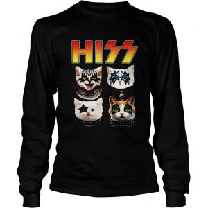 Hiss Cats Kittens Kiss rock Longsleeve shirt