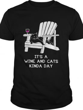 It's a wine and cats kinda day shirt