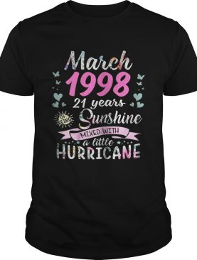 March 1998 21 years sunshine mixed with a little hurricane shirt
