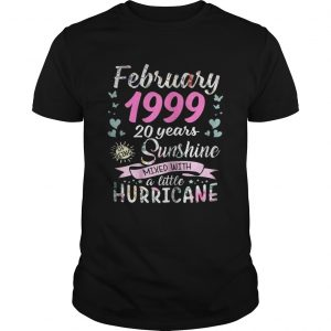 March 1999 20 years sunshine mixed with a little hurricane Guy shirt