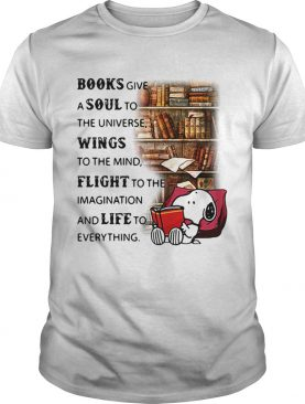 Snoopy reading books give a soul to the universe wings to the mind shirt