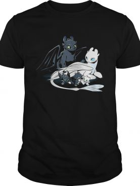 Toothless Light Fury and Night Lights in the Hidden World shirt