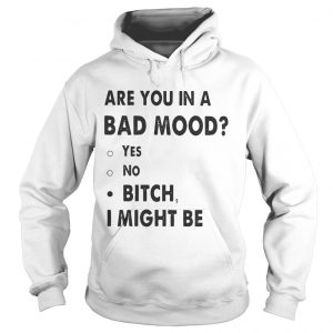 Are you in a bad mood yes no bitch I might be Hoodie shirt
