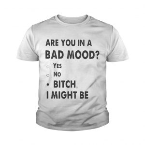 Are you in a bad mood yes no bitch I might be Youth shirt