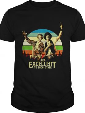 Bill and Ted's be excellent to each other vintage sunset shirt