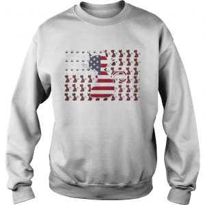 Cat and Wine American Flag Sweat shirt