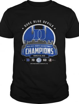 Duke blue devils 2019 acc men's basketball champion shirt