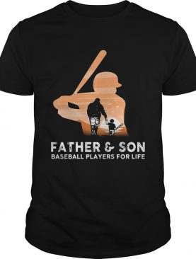 Father and son baseball players for life T shirt
