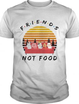 Friends not food vintage sunset shirt