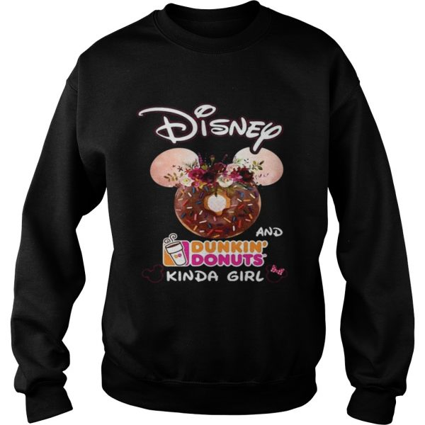 Mickey Mouse Disney and Dunkin' Donuts kinda girl Sweat shirt