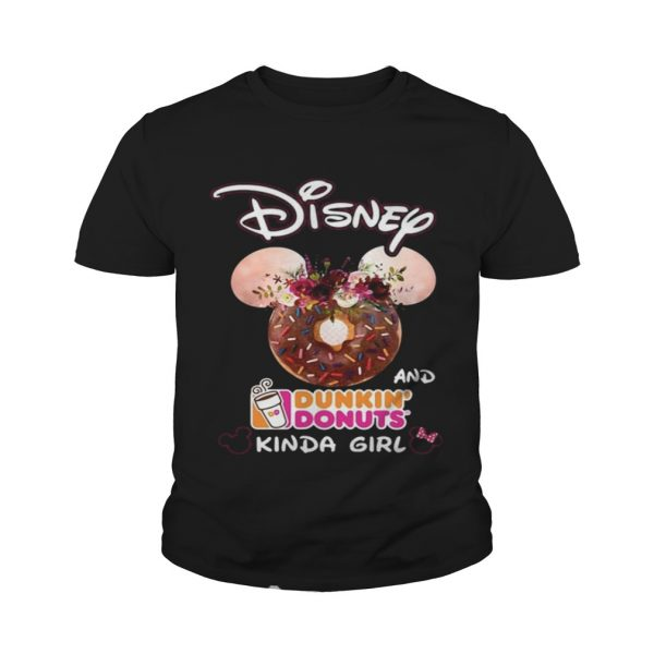 Mickey Mouse Disney and Dunkin' Donuts kinda girl Youth shirt