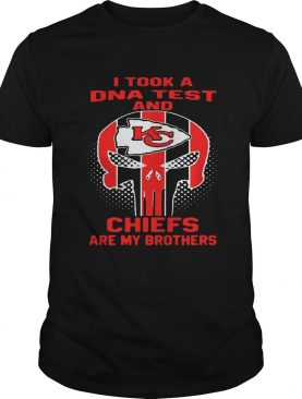 Skull I took a DNA test and Kansas City Chiefs are my brothers shirt