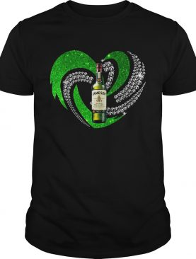 St. Patrick's Day Shamrock Irish Jameson Love Wine Heart Bling shirt