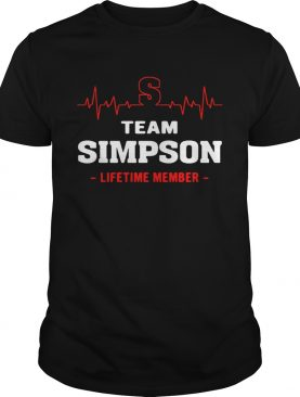 Team Simpson lifetime member T-shirt