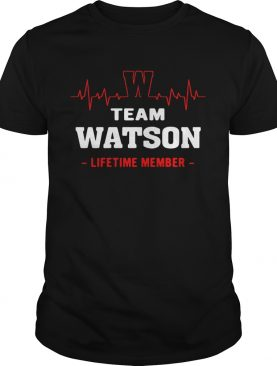 Team Watson lifetime member shirt