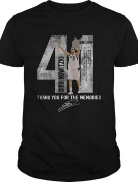 41 Dirk Nowitzki thank you for the memories tshirt