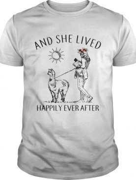 Alpaca and she lived happily ever after tshirt