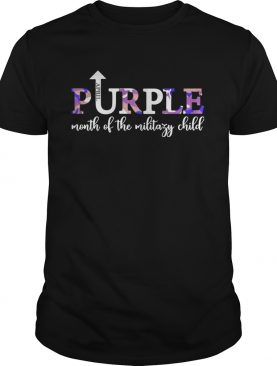 April Purple Up Month Of Military Child Kids Awareness tshirt