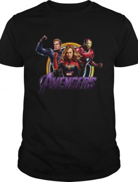 Avenger Endgame Captain Marvel Iron Man and Captain America shirt Men tshirt