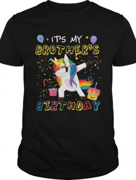 Awesome It's My Brother's Birthday Funny Kid TShirt