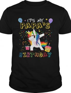Awesome It's My Papa's Birthday Funny Kid TShirt