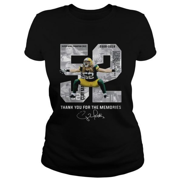 Clay Matthews Iii Thank You For The Memories Ladies TShirt