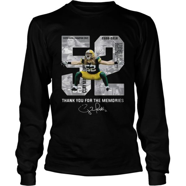 Clay Matthews Iii Thank You For The Memories Longsleeve TShirt