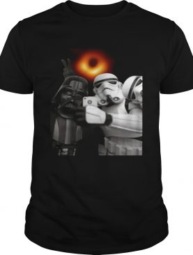 Darth Vader and Stormtroopers selfie with black hole tshirt