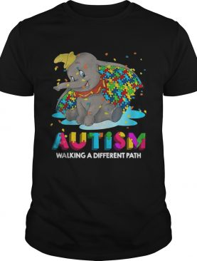 Elephant autism walking a different path tshirts