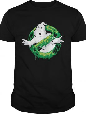 Ghostbusters Classic Slim Ghost Logo Graphic Funny Gift Tshirt