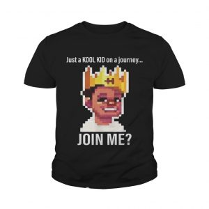 Just A Kool Kid On A Journey oin Me Youth Shirt