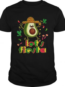 Let's Fiesta Avocado Cinco De Mayo tshirts