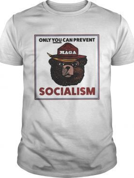 MAGA Bear only you can prevent socialism tshirt