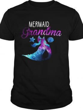 Mermaid Grandma Squad Birthday Party Colorful Tshirt