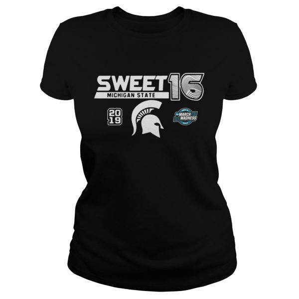 Michigan State Spartans 2019 NCAA Basketball Tournament March Madness Sweet 16 Ladies shirt