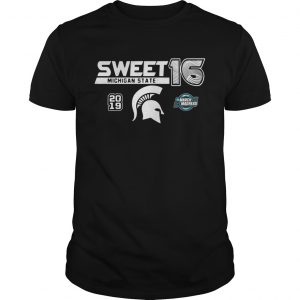 Michigan State Spartans 2019 NCAA Basketball Tournament March Madness Sweet 16 Unisex shirt